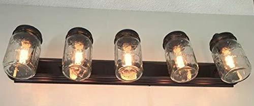 LAMP Goods Mason JAR Bathroom Vanity 5 Light Wide Mouth Jars 0 3