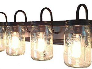 LAMP Goods Mason JAR Bathroom Vanity 5 Light Wide Mouth Jars 0 300x226