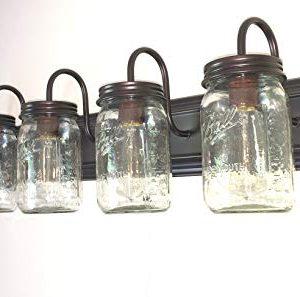 LAMP Goods Mason JAR Bathroom Vanity 5 Light Wide Mouth Jars 0 4 300x297