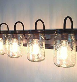 LAMP Goods Mason JAR Bathroom Vanity 5 Light Wide Mouth Jars 0 5 300x320