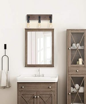 LNC Bathroom Vanity Lights Farmhouse Wood And Water Pipe Wall Sconces3 Heads A03376 0 1 300x360