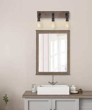 LNC Bathroom Vanity Lights Farmhouse Wood And Water Pipe Wall Sconces3 Heads A03376 0 2 300x360