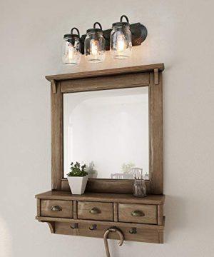 LNC Bathroom Vanity LightsFarmhouse Mason Jar Wall Sconce Over Mirror A02980 Brown 0 0 300x360