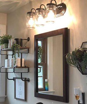 LNC Bathroom Vanity LightsFarmhouse Mason Jar Wall Sconce Over Mirror A02980 Brown 0 1 300x360