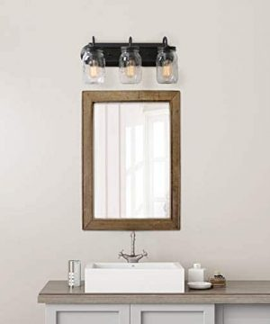 LNC Bathroom Vanity LightsFarmhouse Mason Jar Wall Sconce Over Mirror A02980 Brown 0 2 300x360