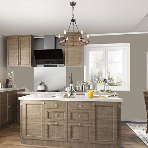 LNC Farmhouse Chandelier Pendant Lighting For For Kitchen Island Dining Rooms Bedrooms A03300 0 2