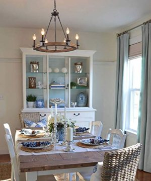 LNC Farmhouse Chandelier Pendant Lighting For For Kitchen Island Dining Rooms Bedrooms A03300 0 3 300x360