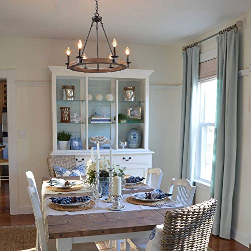 LNC Farmhouse Chandelier Pendant Lighting For For Kitchen Island Dining Rooms Bedrooms A03300 0 3
