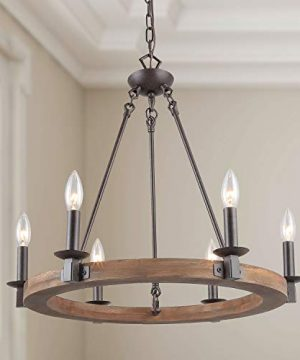 LNC Farmhouse Chandelier Pendant Lighting For For Kitchen Island Dining Rooms Bedrooms A03300 0 300x360