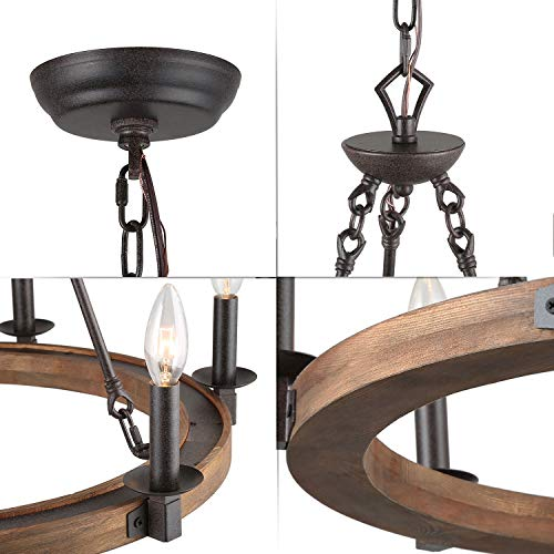LNC Farmhouse Chandelier Pendant Lighting For For Kitchen Island Dining Rooms Bedrooms A03300 0 5