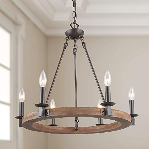 LNC Farmhouse Chandelier Pendant Lighting For For Kitchen Island Dining Rooms Bedrooms A03300 0