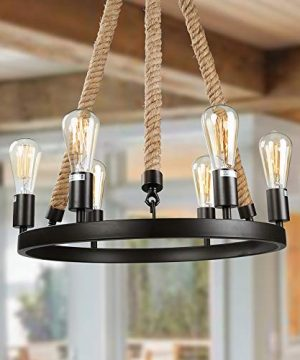 LNC Farmhouse Chandeliers For Dining Rooms Rustic Hanging Ceiling Light Fixture A02993 0 300x360