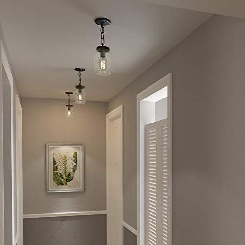 LNC Flush Mount Ceiling Light FixtureFarmhouse Mason Jar Pendant A03220 Single 0 2