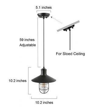 LNC Pendant Lighting For Kitchen Island Black Ceiling Hanging Lamp A01910 0 3 300x360