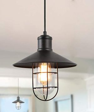 LNC Pendant Lighting For Kitchen Island Black Ceiling Hanging Lamp A01910 0 300x360