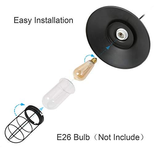 LNC Pendant Lighting For Kitchen Island Black Ceiling Hanging Lamp A01910 0 4