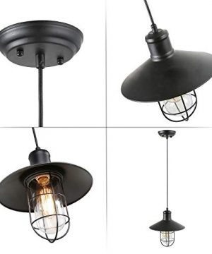 LNC Pendant Lighting For Kitchen Island Black Ceiling Hanging Lamp A01910 0 5 300x360