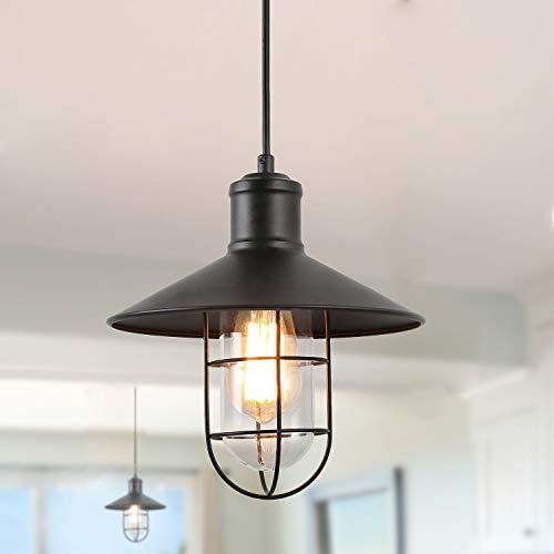 LNC Pendant Lighting For Kitchen Island Black Ceiling Hanging Lamp A01910 0