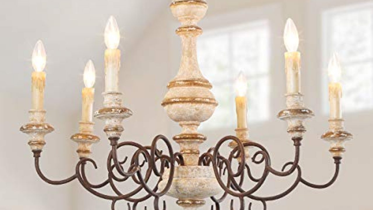 Lnc A03371 Farmhouse Wood Chandelier