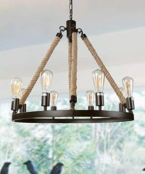LNC Rustic Farmhouse Chandeliers For Dining Rooms Hanging Ceiling Light Fixture A02994 0 300x360