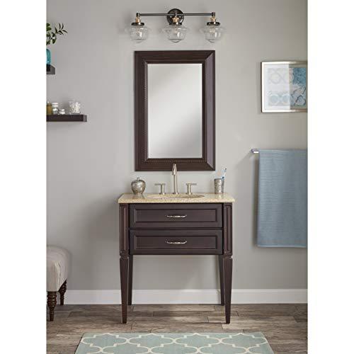 Lavagna 3 Light LED Bathroom Vanity Chrome With Clear Glass Linea Di Liara LL WL273 CLEAR PC 0 1