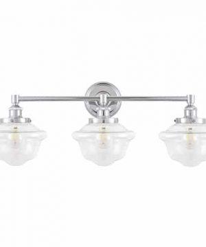 Lavagna 3 Light LED Bathroom Vanity Chrome With Clear Glass Linea Di Liara LL WL273 CLEAR PC 0 2 300x360