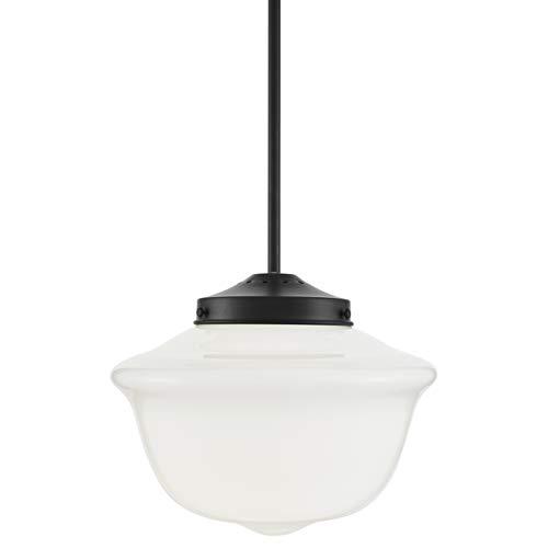Lavagna Vintage Pendant Light Fixture Black Milk Glass Pendant Lighting For Kitchen Island LL P272 MILK BLK 0 0