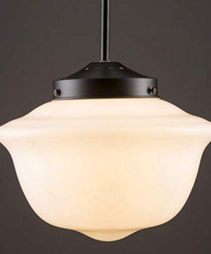 Lavagna Vintage Pendant Light Fixture Black Milk Glass Pendant Lighting For Kitchen Island LL P272 MILK BLK 0 2 300x360