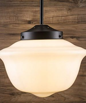 Lavagna Vintage Pendant Light Fixture Black Milk Glass Pendant Lighting For Kitchen Island LL P272 MILK BLK 0 3 300x360