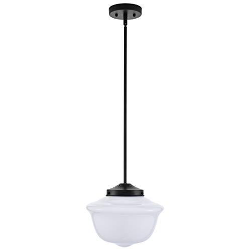 Lavagna Vintage Pendant Light Fixture Black Milk Glass Pendant Lighting For Kitchen Island LL P272 MILK BLK 0 4