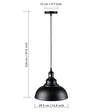 Lightess Black Pendant Light Industrial Hanging Lights Metal Barn Farmhouse Kitchen Lighting Edison Ceiling Mount Fixture OLL466 0 4 300x360