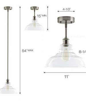 Lucera Glass Kitchen Pendant Light Brushed Nickel Farmhouse Hanging Light Fixture LL P431 BN 0 1 300x360