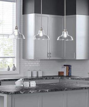 Lucera Glass Kitchen Pendant Light Brushed Nickel Farmhouse Hanging Light Fixture LL P431 BN 0 3 300x360