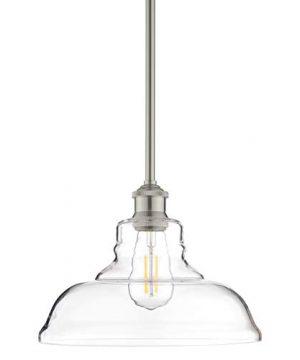 Lucera Glass Kitchen Pendant Light Brushed Nickel Farmhouse Hanging Light Fixture LL P431 BN 0 300x360
