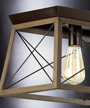 Luxury Industrial Chic IslandLinear Chandelier Large Size 9H X 38W With Modern Farmhouse Style Elements Olde Bronze Finish UHP2126 From The Berkeley Collection By Urban Ambiance 0 3 300x360