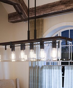 Luxury Modern Farmhouse Chandelier Large Size 1575H X 3675W With Industrial Chic Style Elements Olde Bronze Finish And Clear Shade UHP2440 From The Bristol Collection By Urban Ambiance 0 300x360
