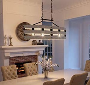 Luxury Modern Farmhouse Chandelier Large Size 17H X 385W With Rustic Style Elements Charcoal Finish UHP2476 From The Adelaide Collection By Urban Ambiance 0 0 300x282