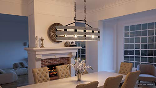 Luxury Modern Farmhouse Chandelier Large Size 17 H X 38 5 W With Rustic Style Elements Charcoal Finish Uhp2476 From The Adelaide Collection By Urban Ambiance Farmhouse Goals