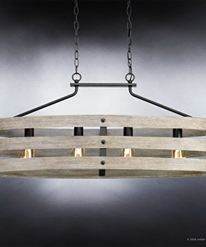 Luxury Modern Farmhouse Chandelier Large Size 17H X 385W With Rustic Style Elements Charcoal Finish UHP2476 From The Adelaide Collection By Urban Ambiance 0 1 300x360
