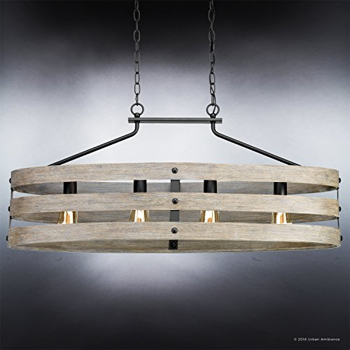 Luxury Modern Farmhouse Chandelier Large Size 17H X 385W With Rustic Style Elements Charcoal Finish UHP2476 From The Adelaide Collection By Urban Ambiance 0 1