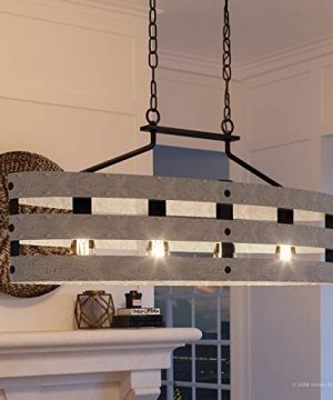 Luxury Modern Farmhouse Chandelier Large Size 17H X 385W With Rustic Style Elements Charcoal Finish UHP2476 From The Adelaide Collection By Urban Ambiance 0 300x360