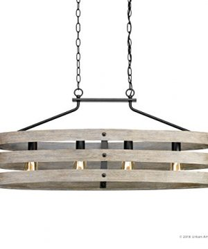 Luxury Modern Farmhouse Chandelier Large Size 17H X 385W With Rustic Style Elements Charcoal Finish UHP2476 From The Adelaide Collection By Urban Ambiance 0 5 300x360