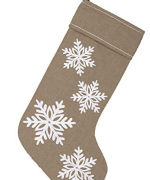 Piper Classics Winter Snowflake Christmas Stocking 12 X 20 Modern Country Farmhouse Holiday Dcor Beige Gray 0 1 300x360