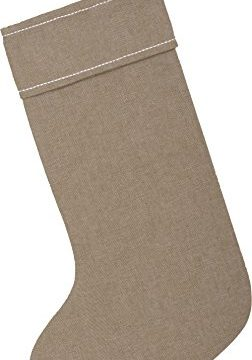 Piper Classics Winter Snowflake Christmas Stocking 12 X 20 Modern Country Farmhouse Holiday Dcor Beige Gray 0 2 252x360