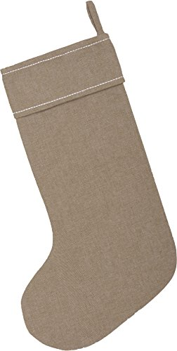 Piper Classics Winter Snowflake Christmas Stocking 12 X 20 Modern Country Farmhouse Holiday Dcor Beige Gray 0 2