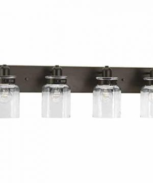 Progress Lighting P300048 020 Calhoun Antique Bronze Four Light Bath Vanity 0 300x360