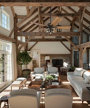 Prominence Home 50684 01 Aspen Pines Farmhouse Ceiling Fan 3 Speed Remote 52 BarnwoodTumbleweed Aged Bronze 0 3 300x360