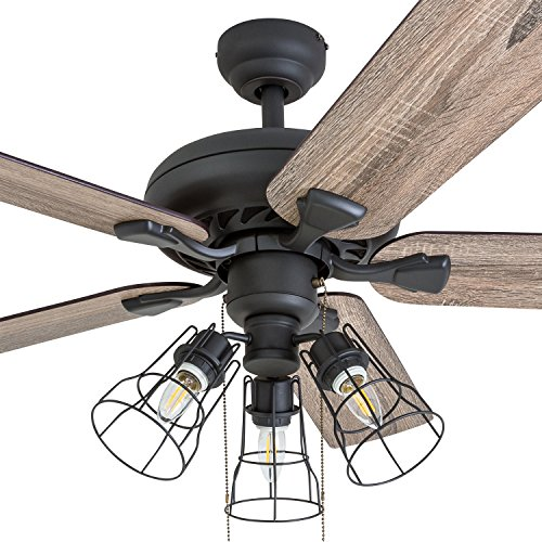 Prominence Home 50745 01 Lincoln Woods Farmhouse Ceiling Fan 3 Speed Remote 52 Barnwood Tumbleweed Aged Bronze Farmhouse Goals