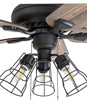 Prominence Home 50745 01 Lincoln Woods Farmhouse Ceiling Fan 3 Speed Remote 52 BarnwoodTumbleweed Aged Bronze 0 1 300x360