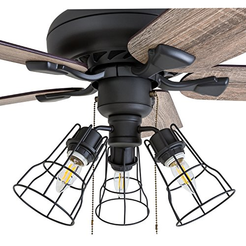Prominence Home 50745 01 Lincoln Woods Farmhouse Ceiling Fan 3 Speed Remote 52 BarnwoodTumbleweed Aged Bronze 0 1